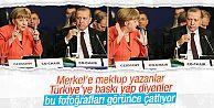 Merkel İstanbul'daki zirvede Erdoğan'la...
