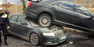 MHP Genel Başkanı Bahçeli'nin konvoyunda kaza