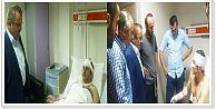 Şahin Pirdal;Patlamada Yaralananları Ziyaret Etti