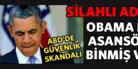 'Silahlı adam' Obama ile aynı asansöre bindi!