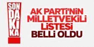 Son Dakika: İşte AK Parti'nin adayları!