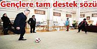 Sporcu Başkan Aydın'dan sporcu gençlere tam destek sözü