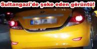 Sultangazi'de şoke eden görüntü! Taksinin...