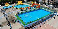Sultangazi'de ücretsiz yüzme kursu başladı