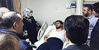 Suzan Dağlar Civan,Yaralanan Camii İmamını Hastanede Ziyaret Etti!