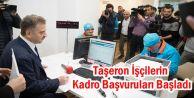 Taşeron işçilerin kadroya geçişi için Gaziosmanpaşa'da ilk müracaatlar yapıldı