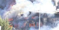 Tuzla'daki fabrika yangınında patlama: 2 yaralı