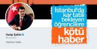 Vasip Şahin: İstanbul'da kar tatili gündemimizde değil