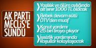 Yaşlılık aylıkları için 1000 liranın alt sınır olarak belirlenmesini içeren teklif TBMM'ye sunuldu