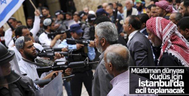 Tüm Müslüman dünyası Kudüs'teki olaylar için İstanbul'da toplanacak
