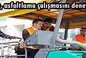 Başkan Usta, asfaltlama çalışmasını denetledi