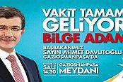 BAŞBAKAN DAVUTOĞLU GAZİOSMANPAŞA'YA GELİYOR