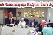 AK Parti Gaziosmanpaşa Mv.Şirin Ünal'ı Ağırladı