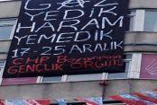 CHP Bayrampaşa'dan 17 Aralık pankartı
