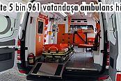 Eyüp'te 5 bin 961 vatandaşa ambulans hizmeti