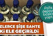 Gaziosmanpaşa'da sahte içki operasyonu: 700 şişe ele geçirildi