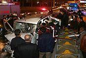 Bayrampaşa TEM'de zincirleme kaza: 4 yaralı