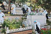 Gaziosmanpaşa'da Bulunan Mezarlıklar Bayram Sonrası Ziyaretlere Hazır