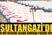 Sultangazi'de 210 bin metrekare alana kurban pazarı kuruldu