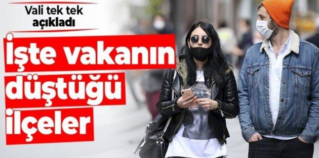 Vali açıkladı: İstanbulda vaka sayısının en çok düştüğü ilçeler