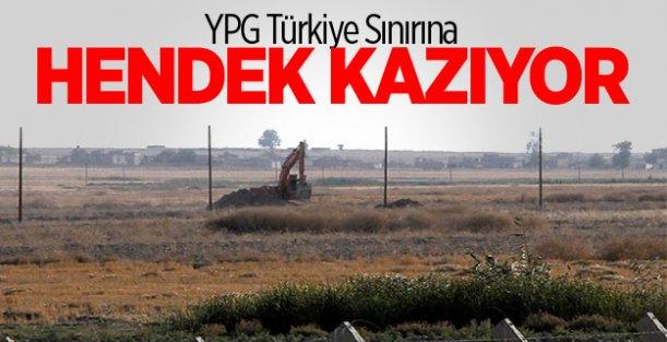 YPG Türkiye Sınırına Hendek Kazıyor