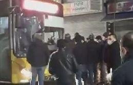 Sultangazi'de İETT otobüsü tepkisi
