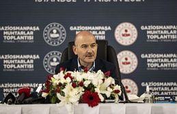 İçişleri Bakanı Süleyman Soylu Gaziosmanpaşa'da Muhtarlar ile bir araya geldi.