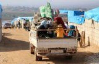 124 bin sivil Suriye-Türkiye sınırındaki kamplara...