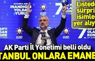 AK Parti İstanbul İl Yönetimi belli oldu! Dikkat...