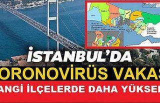 İstanbul'da en çok koronavirüs vakası hangi...