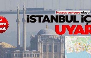 İstanbul'da korkutan görüntü! Hava kirliliği...