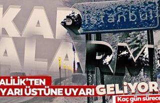 Uyarı üstüne uyarı! İstanbul'a kar geliyor