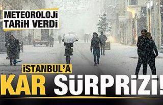 Meteoroloji uyardı! İstanbul'a kar sürprizi!