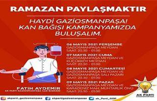 AK Parti Gaziosmanpaşa'danKızılay'a kan desteği