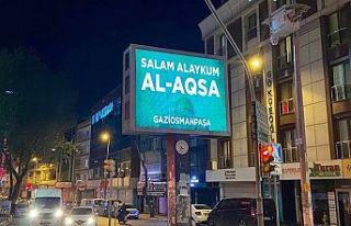 Gaziosmanpaşa'dan dev ekranlardan Mescid-i Aksa'ya...