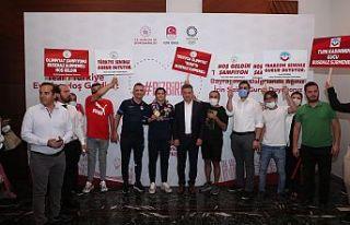 Gaziosmanpaşa Belediye Başkanından Olimpiyat şampiyonu...
