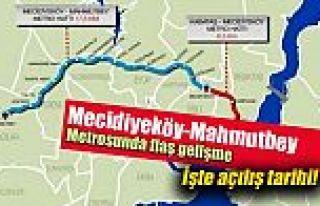 28 Ekimde Açılacak Olan Mecidiyeköy-Mahmutbey metrosu...