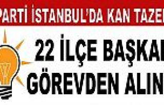 AK Parti'de, İstanbul'da 22 ilçe başkanı görevden...