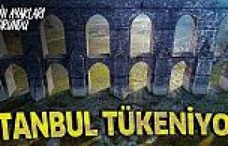 Alibeyköy Barajı alarm veriyor! Korkutan görüntü!...
