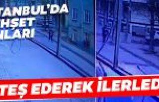 Arnavutköy'de dehşet anları! Rastgele ateş ederek...