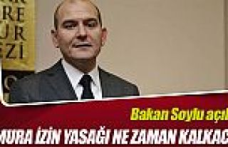 Bakan Soylu'dan 'memura izin yasağı' açıklaması