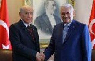 Başbakan Yıldırım ile MHP Genel Başkanı Bahçeli...