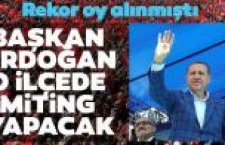 Başkan Erdoğan, AK Parti'nin rekor oyla kazandığı...