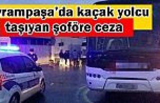 Bayrampaşa'da kaçak yolcu taşıyan şoföre 6...