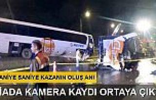 Bolu Dağı'ndaki otobüs kazası kamerada