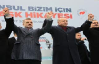 Cumhurbaşkanı Erdoğan Gaziosmanpaşa'da Coşkuyla...