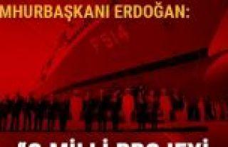 Cumhurbaşkanı Erdoğan: Uçak gemimizi yapmakta...