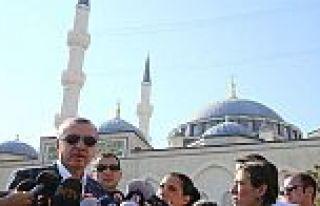 Cumhurbaşkanı Erdoğan'dan bayram namazı sonrasında...