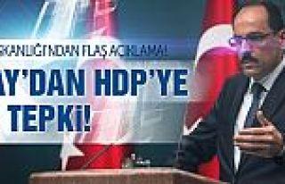Cumhurbaşkanlığı'ndan HDP'ye Suruç tepkisi!