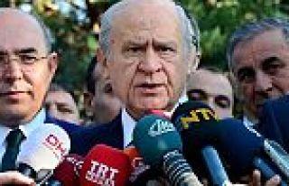 Devlet Bahçeli: Erken seçime hazırlanıyoruz